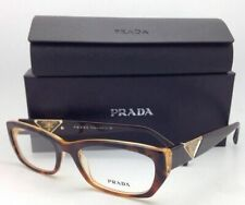 New PRADA Eyeglasses VPR 10O FAL-1O1 52-18 Brown Tortoise & Honey Cat-Eye Frames