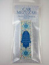 "Car Mezuzah 2.5"" Acrylic SEVEN BLESSINGS HAMSA with Travelers Prayer Scroll"