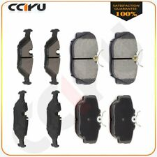 INEEDUP Ceramic Brakes Pads Front Rear fit for 1995-1999 BMW 318ti 2000 BMW 323Ci 1998-2000 BMW 323i 2003 2000 BMW 328Ci 2001-2006 BMW 325Ci 2001-2005 BMW 325i 2001-2005 BMW 325xi