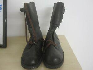Original French Ranger Brown Combat Boots - UK Size 8 (Euro 42) Surplus
