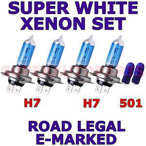 VOLKSWAGEN EOS 2007-ON SET H7 501 XENON SUPER WHITE LIGHT BULBS
