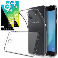 Samsung Galaxy J5 2017 DUOS 2x Schutzglas Schutzfolie Hart Glas + SILIKON HÜLLE