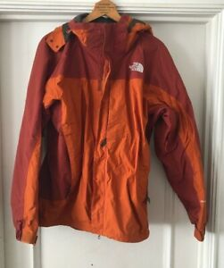 The North Face Ski Snowboard HyVent Jacket Waterproof Men's Sz Large Orange TNF