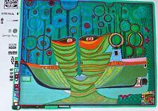 Friedensreich Hundertwasser  COLUMBUS RAINY DAY IN INDIA signed Regentag 71