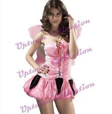 Ladies Fairy Princess Pixie Tinkerbell Halloween Fancy Dress Costume & Wings