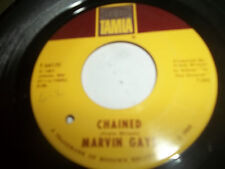 Marvin Gaye ORIGINAL 1967 Northern Soul 45 Chained / AT LAST Tamla VG+ TO EX