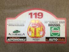 16th RALLYE DE BRUXELLES AUTOGIDS SPONSORED CAR RALLY PLAQUE WITH FORD GT40 LOGO