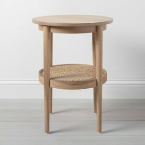 Wood and Came Round Accent Table by Hearth & Hand with Magnolia