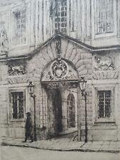 Gravure orig Louis Samuel Brun sign/n° Musée Carnavalet Marais Vieux Paris 1900