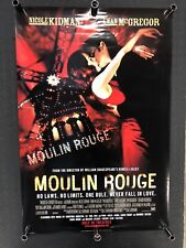 Moulin Rouge Movie Poster , Nicole Kidman, Ewan McGregor 27�x40� Double Sided