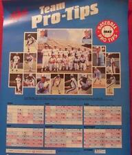 """1983 Montreal Expos Schedule Zeller's Team Pro Tips Poster 18 x 23"""""""