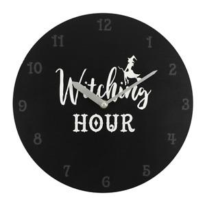 Tattoo Studio Gothic Witching Clock Witch Barber Decor Home Rock Dark GIFT