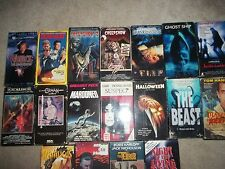 Lot of  18 HORROR VHS tapes -Mystery, Thriller, Science Fiction - Classics!