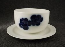 Vintage Blue Flower Gravy Boat & Underplate Franconia Selb Bavaria Cobalt Blue
