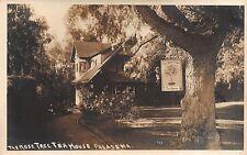 Real Photo Postcard Rose Tree Tea House in Pasadena, California~110693