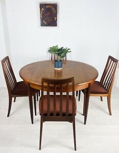 MID CENTURY G PLAN TEAK TABLE AND CHAIRS VINTAGE RETRO