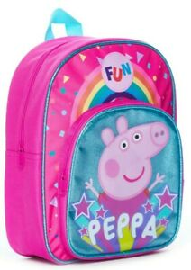Peppa Pig Bag Toddler Backpack Girls for School Nursery, Gifts for Girls Rainbow