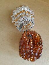 Couvre-ampoule en perles Art Nouveau.