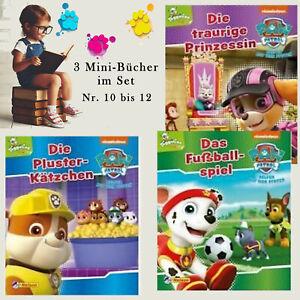 PAW PATROL 3 Minibücher,Nr. 10-12,Minibuch,Nelson minis,Kinder-Buch, Bilderbuch