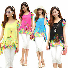 Unbranded Chiffon Casual Floral Tops & Blouses for Women