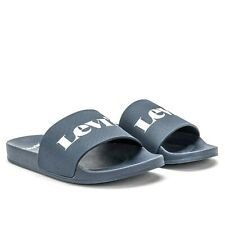 Levi's Men's Sandals June Mono Slides Fashion Luxury Summer Beach Shoes Navy New