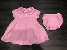 Laura Ashley Baby Girls Summer Dress & Pants Set Outfit 12 Months Pink Worn Once
