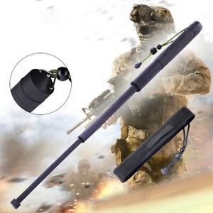 Portable Telescopic Sticks Retractable Outdoor Whip Survive CampiEF Black
