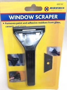 New Window,Glass,Mirror & Ceramic Scraping Paint Remover,scraper With Blades