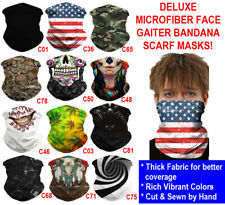 Deluxe Tube Bandana Scarf Neck Gaiter Head Face Mask Multi-use Outdoor Cap Lot