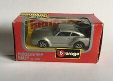 Burago Silver Porsche 959 Rally Toy Car Die Cast Scale 1/43 Code 4126