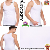 Jockey Men Modern Classic White Basic Undershirt #8823- Basic Vest - Multi Pack