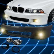 M5 Style Front Bumper Grille Cover+Fog Light Kit for 1996-2003 BMW E39 5-Series