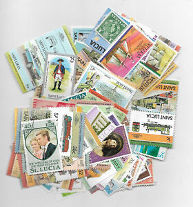 P666/43] 200 different St Lucia packet