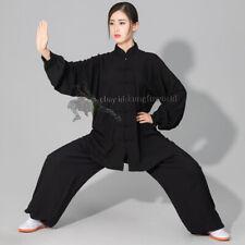 Women's Men's Soft Cotton Tai chi Uniform Martial arts Wushu Wing Chun Suit