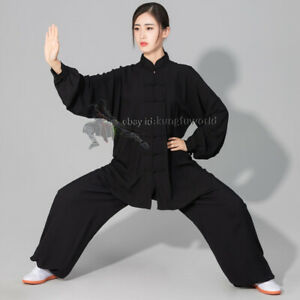 Women's Men's Soft Cotton Tai chi Uniform Martial arts Wushu Wing Chun Suit