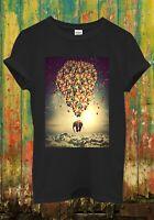 Balloon Elephant Sky Animal Cute Girl Men Women Unisex Top Sweatshirt Hoodie 843