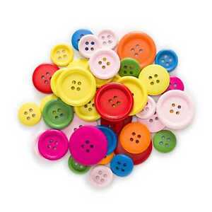 40 Gram Round Wood Buttons Sewing Scrapbooking Accessories Crafts Decor 15-25mm