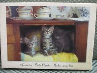 "Hallmark 10 note cards 6"" x 4 1/2""  featuring kittens/cat 4 designs unused"