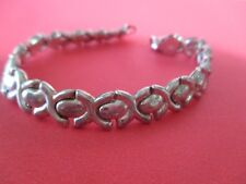 Beautiful Sterling Silver (925) Bracelet- X's and O's 71/4 inch..6