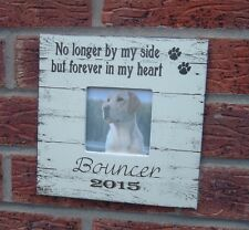 shabby vintage chic Pet memorial sympathy photo frame personalised dog cat