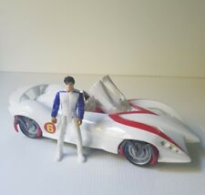 Speed Racer the movie Warner Brothers white mech 6 Racer car with action figure