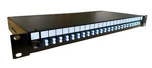 "1U 19"" LC Singlemode Fibre Optic Patch Panel 4 fibre to 48 fibre lot"