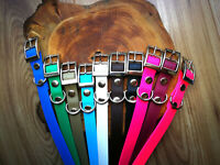 Biothane Steel Waterproof Dog Collar - ALL sizes - adjustable / Handmade