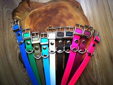 Biothane Steel Waterproof Dog Collar - ALL sizes - adjustable / Handmade