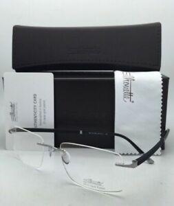 SILHOUETTE Eyeglasses HINGE C-2 5421 60 6053 23K Gold Plated Silver&Black Frame