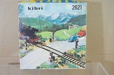 KIBRI 2621 DB SBB OBB SINGLE TRACK LEVEL CROSSING with LIGHTS BOXED ne