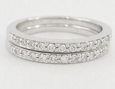 0.26 ct 14K White Gold Round Cut Diamond Matching Wedding / Anniv. Band Ring