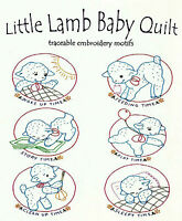 LITTLE LAMB BABY QUILT Vtg. Embroidery Transfer Pattern