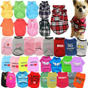 Pet Dog Clothes Puppy T Shirt Clothing Small Dogs Chihuahua Vest Summer Costumes
