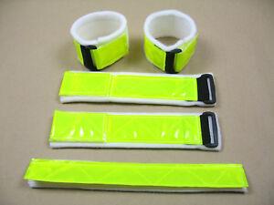 Leuchtgamaschen Reflektoren 4 Stück (2 Paar) und ein Leuchtstirnband